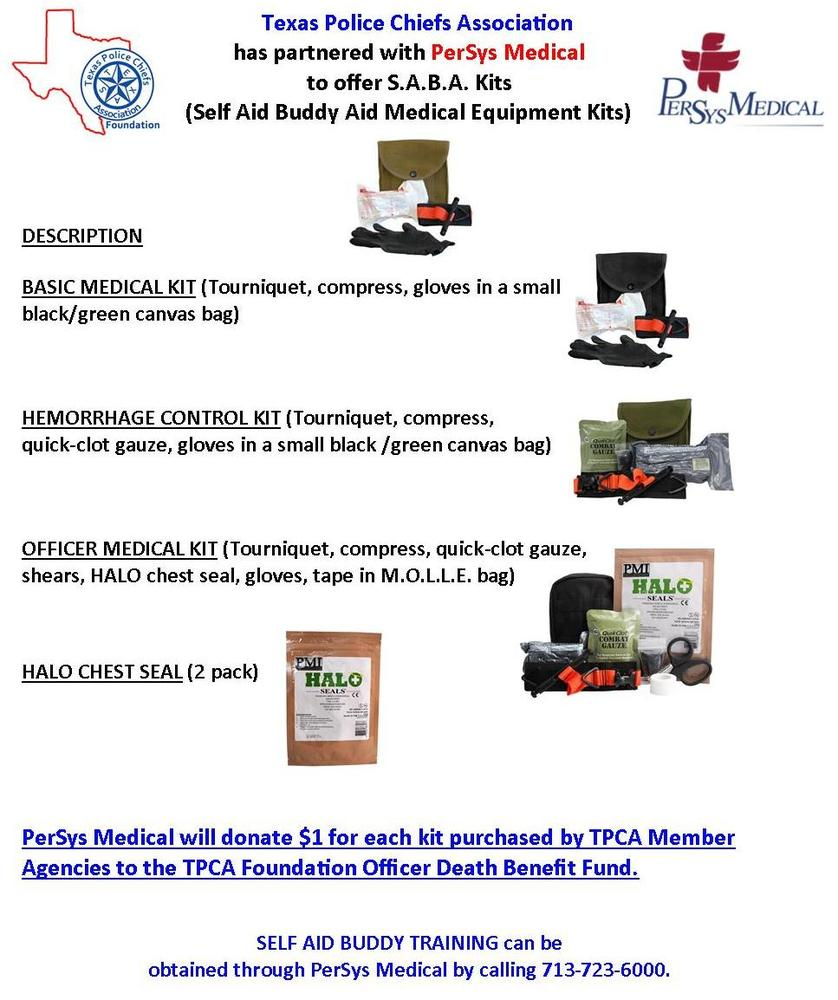 Information about S.A.B.A. (Self Aid Buddy Aid) Medical Equipment Kits