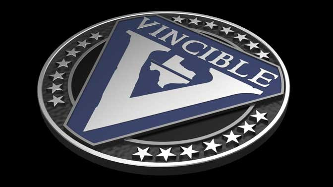 Vincible Badge Logo